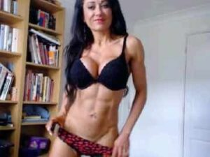 Fit Girl With Abs On Cam