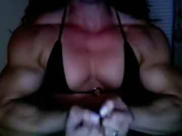 Muscular Cam Model Shows Off Her Big Biceps