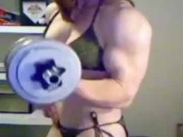 Teen FBB Flex And Work Out On Webcam