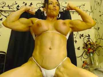 Big Breasted Muscle Babe Live Session