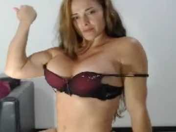 Muscled Woman Shows Off Her Biceps
